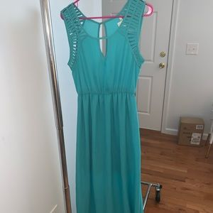 Miami Teal Maxi Dress
